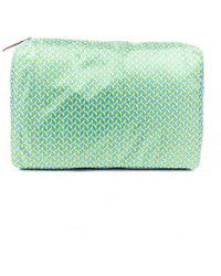 Hermès Voyage 25 Silk Travel Case Blue/yellow Sz: M - Green