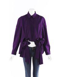 Delpozo Bow Blouse - Purple
