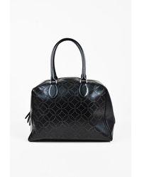 Alaïa Laser Cut Leather Dome Bag Black Sz: L