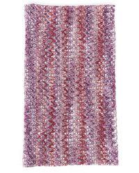 Missoni Chevron Knit Infinity Scarf - Purple