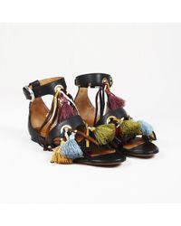 "Chloé - Tasseled Leather ""miki"" Gladiator Sandals - Lyst"