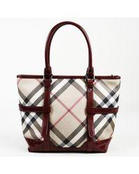708ce824e69a Lyst - Burberry Vintage Check Pvc Extra-large Shopper