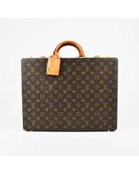 Louis Vuitton - Vintage Brown Monogram Coated Canvas President Hardshell Briefcase - Lyst