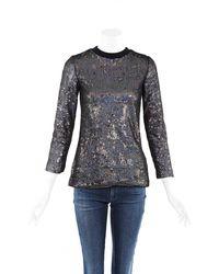 Proenza Schouler Sequin Sweater Metallic Sz: Xs