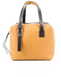 Loewe Cube Leather Bag Black/brown Sz: M