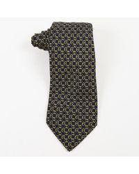23bc332cf7e8 Lyst - Hermès Mens Blue White Silk Chainlink Print Tie in Blue for Men