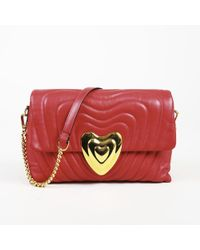 ESCADA - Quilted Leather Heart Shoulder Bag - Lyst