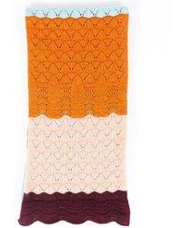 Missoni Multicolour Striped Crochet Scarf Multicolour Sz: