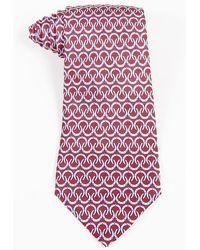 Hermès - Mens Red Multicolor Silk Horseshoe Print Tie - Lyst