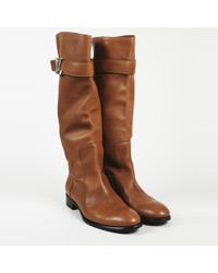 "Louis Vuitton - Leather ""legacy"" Knee High Boots - Lyst"