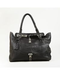"""Fendi - Brown Selleria Leather Top Handle """"grand Borghese"""" Tote Bag - Lyst"""