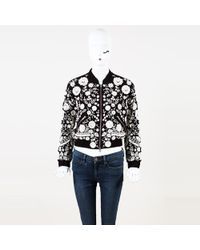 Needle & Thread - Floral Embroidered Beaded Bomber Jacket - Lyst