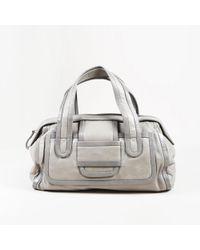 """Pierre Hardy - Grey Leather """"bag 2 Boston"""" Bag - Lyst"""