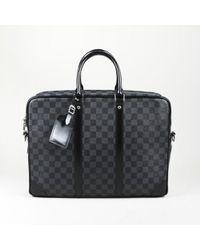 """Louis Vuitton - """"porte Documents Voyage Gm"""" Damier Graphite Coated Canvas Bag - Lyst"""