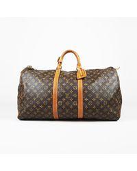 Louis Vuitton Vintage Keepall 55 Monogram Duffel - Brown