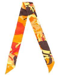Hermès Ex-libris En Camouflage Twilly Scarf - Orange