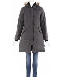Canada Goose Kensington Parka Fur Trimmed Hooded Coat - Grey