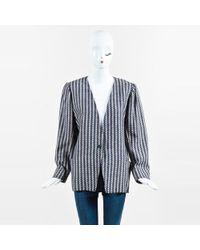 Emanuel Ungaro - Vintage Navy/cream Knit Blazer - Lyst