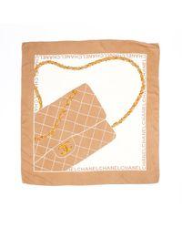 Chanel Flap Bag Print Scarf - Multicolour