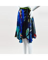 Julien David - Nwot Multicolor Silk Printed Skirt - Lyst