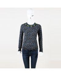 e65f69f5f7e7cc MICHAEL Michael Kors Beaded Collar Sweater in Black - Lyst