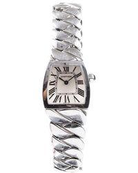 Cartier La Doña De Watch Silver Sz: - Metallic