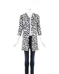 Cushnie et Ochs Animal Print Jacket - White