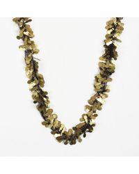 Unbranded - Gold Tone & Black Paillette & Mesh Necklace - Lyst