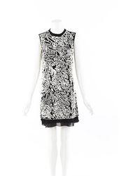 Maiyet Embroidered Beaded Silk Dress Black/white/geometric Sz: S - Multicolour