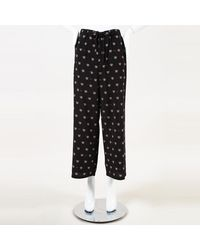 MUVEIL Telephone Print Cropped Pants - Black