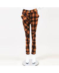 Vivienne Westwood - Anglomania Orange Multicolor Wool Plaid Pants - Lyst