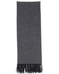 Hermès Cashmere Fringe Scarf Black/gray/geometric Sz: - Grey