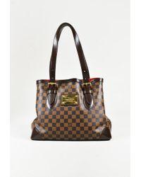 "Louis Vuitton - Damier Ebene Canvas & Leather ""hampstead"" Mm Tote Bag - Lyst"