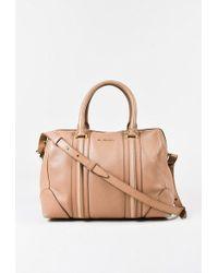 "Givenchy   Beige Leather Top Handle Medium ""lucrezia"" Duffle Bag   Lyst"