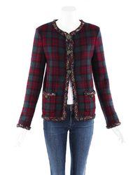 Chanel Métiers D'art Plaid Cashmere Tweed Jacket - Multicolor