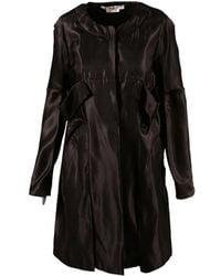 Marni - Brown Satin Pleated Jacket - Lyst