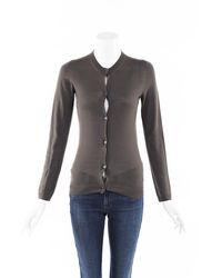 Bottega Veneta Wool Knit Cardigan Brown/gray Sz: Xs - Multicolour