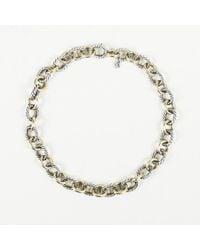 David Yurman Oval Link 18k Yellow Gold Necklace - Metallic