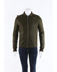 Rick Owens Rotterdam Lambskin Jacket Men's - Green