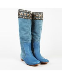 Giuseppe Zanotti - Embellished Suede Knee High Boots - Lyst