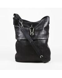 VBH - Matte Black Snakeskin & Vitello Calf Leather Satchel Bag - Lyst