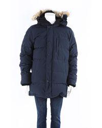 Canada Goose Carson Parka Fur Trimmed Hooded Coat Men's - Blue