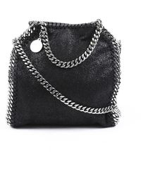 Stella McCartney Tiny Falabella Faux Leather Crossbody Bag Black Sz: M