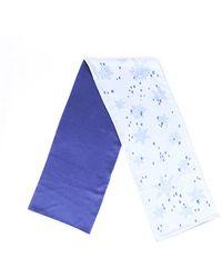 Hermès Snowflake Silk Scarf Blue Sz: