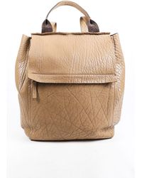 Brunello Cucinelli Leather Flap Backpack - Natural