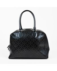 Alaïa Laser Cut Leather Dome Bag - Black