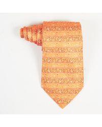 Hermès - Mens Orange Multicolor Silk Abstract Print Tie - Lyst