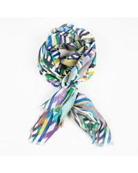 Matthew Williamson - Geometric Print Cashmere Silk Multicolour Scarf - Lyst
