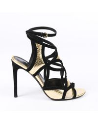 59af8dd4be4 Alexander Wang Cate High Heel Sandal in Black - Lyst