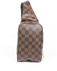 Louis Vuitton Geronimos Damier Ebene Sling Bag - Brown